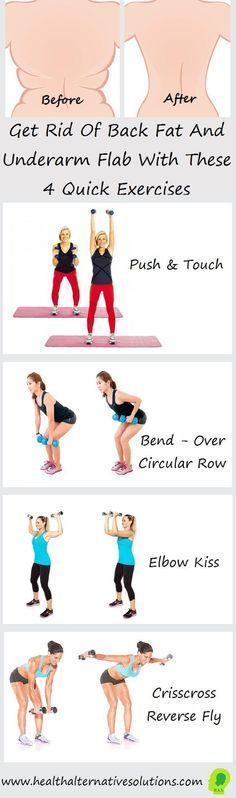 Get Rid Of Back Fat And Underarm Flab With These 4 Quick Exercises! - Home Health Solution
