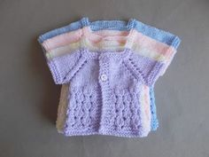Dewdrop Baby Jacket ~ Preemie & Newborn SizesNewborn, Large Preemie, Medium Preemie, Small Preemie Beautiful as a gift for an early baby ….. or even a doll Also a great little unisex design ~ suit