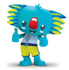 A loveable koala with fur the colour of the ocean and a passion for surfing and adventure has been announced as the mascot for the Gold Coast 2018 Commonwealth Games™ Commonwealth Games, Gold Coast, Tweety, Smurfs, Sonic The Hedgehog, Street Art, Fictional Characters, Birmingham, Olympics