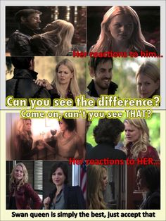 OUAT- The difference between Hook/Emma and Regina/Emma. Swan Queen all the way!!
