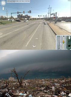 Before & After Pictures Of Joplin, Missouri.. I'll never be able to look at these pictures and not cry. Almost 2 years later, breaks my heart every time.