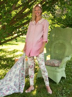 Bouquet Ladies Legging | Ladies, Skirts & Pants :Beautiful Designs by April Cornell