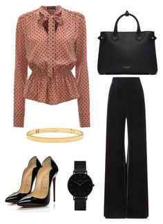 """""""chic and classy outfit for work"""" by feniaz on Polyvore featuring Roland Mouret, CLUSE, Christian Louboutin, Burberry and Boucheron"""