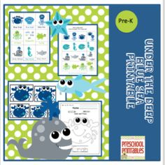 Under the Deep Blue Sea from Preschool Printables on TeachersNotebook.com (35 pages)
