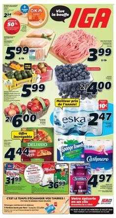 Circulaire IGA du 16 au 22 juillet 2020 Sale Banner, Food, Mango, Essen, Meals, Yemek, Eten