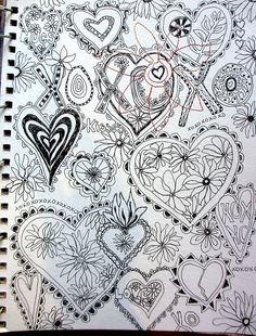 hearts doodle | Flickr - Photo Sharing!