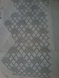 Hand Embroidery Patterns Free, Crochet Edging Patterns, Crochet Lace Edging, Crochet Borders, Crochet Designs, Crochet Flowers, Flower Patterns, Filet Crochet, Crochet Chart
