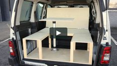 Removable, folding camper van conversion modules from on Vimeo Auto Camping, Truck Bed Camping, Camping Box, Minivan Camping, Fiat Panda, Citroen Berlingo Camper, Renault Kangoo Camper, Peugeot, Campervan Bed