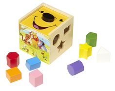 Amazon.com: Disney Baby Winnie the Pooh Wooden Shape Sorting Cube