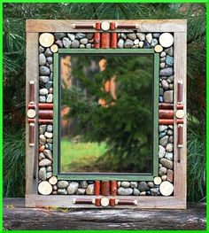"""STICKS & STONES"" rustic mirrors rustic clocks~[Tilton River Rustics Rustic Mirrors]"