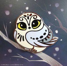 Harfang Owl Hard Enamel Pin by Dragibuz on Etsy