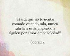 #socrates #soledad #vivir