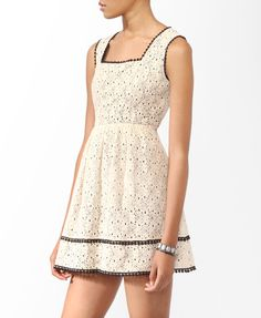Picot Trim Lace Dress | FOREVER21 - 2000045610