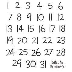 Stickabilities Calendar Number Stickers   Shop Hobby Lobby