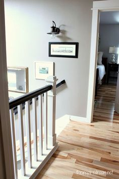 I've always been a fan of dark hardwood floors but I love this! Hickory-Hardwood-Prefinished-Floors