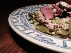 Duck breast with brown rice