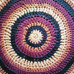 Трикотажный связанный коврик