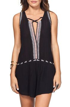 Rip Curl 'Electric Beach' Embroidered Romper available at #Nordstrom