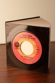 45rpm Vinyl Record Journal by bibliopegy on Etsy