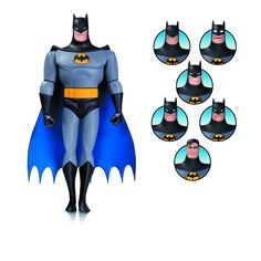 Batman Animated Series: Batman Expressions Pack (Other), Multicolor Paul Dini, The New Batman, Batman Action Figures, Bruce Timm, Animation Series, Dark Knight, Famous Artists, The Darkest, Dc Comics