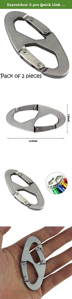 Ezyoutdoor 2 pcs Quick Link Aluminum Carabiner Snap Clip Hook Keychain Hiking Bottle scouts buckle tool for Climbing Camping Hiking Backpacking Travel Hunting with gift Water Bag. 100% Brand New Maximum load-bearing: we've tested 75kg(165lb). No problem. Size: 68mm*33mm(2.6inch*1.3inch) Weight: 20g waterproof, high strength and durability Package includes: 2 x carabiner.