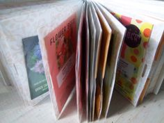 brilliant way to store seed packets (in a photo album)!