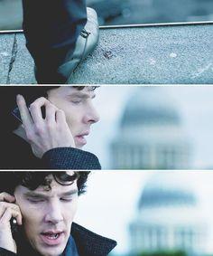 Day fave scene of a Sherlock episode ever. Sherlock Holmes Benedict, Sherlock Bbc, Benedict Cumberbatch, Sherlock Season 2, The Reichenbach Fall, Lara Pulver, I Dont Have Friends, Rupert Graves, Vatican Cameos