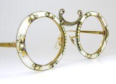 Rare Vintage Christian Dior Sunglasses Eyeglasses Big Round Cats Eye Shape 12k gf. $290.00, via Etsy.