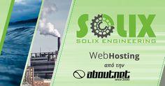 Η #aboutnet ανέλαβε την φιλοξενία (#webhosting), στους σύγχρονους και ταχύτατους servers που διαθέτει, της εταιρίας Solix Engineering.