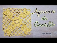 Square de Crochê 02 e União - YouTube