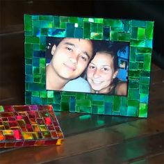 Ha! I knew that old pile of CDs would come in handy one day. Use CDs and glass paint to make colourful mosaic picture frames, or decorate pl...