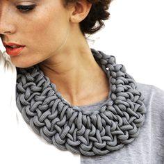 necklace  //  Knot Bib Grey  by Eliana Venier