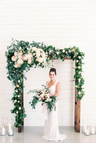 Top knot, organic arrangements, marbled moments, rose quartz, embroidered gown, copper details – this inspiration is filled with every single wedding trend you need to see this season.