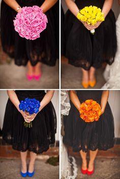 Brides, Bridesmaids & Blooms: Bouquets, Dresses and Shoes!