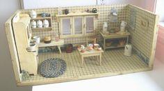 1920's Antique German Dolls' Kitchen Room