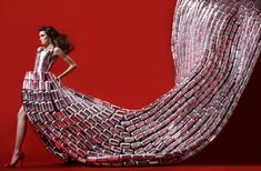 Commercial Couture: Dresses from Everyday Objects - DesignTAXI.com