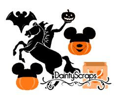 Disney Halloween SVG's www.DaintyScraps.com