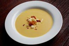 Celery Root and Pear Soup~ 2 Tbsp unsalted butter, 1/2 C minced onion ...