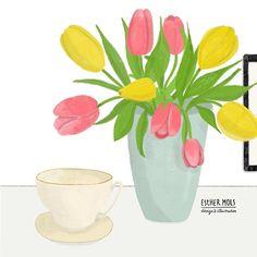 Almost spring!  #floralillustration
