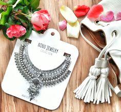 Statement necklace, bohemian necklace, Inspiration www.ninojewelry.hu