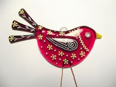 fused glass birds