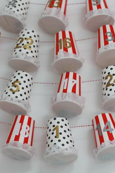 DIY Advent Calendar Tutorial - Paper Cup Advent
