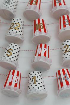 DIY Advent Calendar Tutorial - Paper Cup Advent                                                                                                                                                                                 More