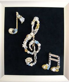 Allegro Music Trio Vintage Jewelry Art by ArtCreationsByCJ on Etsy, $250.00
