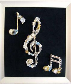 Allegro Music Trio Vintage Jewelry Collage