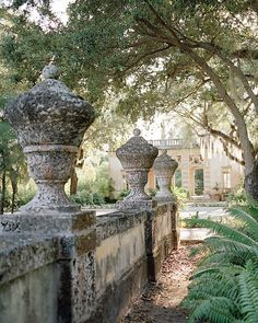 Built in the early 1900s in Miami, as the European-style winter home for industrialist James Deering, Vizcaya boasts glorious gardens as well as a small open-air house called the casino (background) that was used for parties and as a reading room. Vizcaya was named after a province in Spain's Basque region.