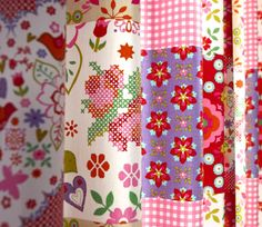Roze / Rood / Paars / Violet Gordijn Ricamare | Vr.Jipsy 09 | KinderGordijnen