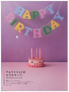 Happy Birthday garland perler beads