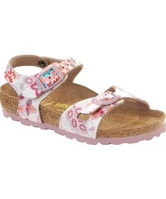 cd3f454035e Shop Birkenstock Rio in Cute Flowers Rose Pink for kids