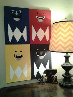 Power Ranger Pop Art. Bedroom RemodelingKids BedroomBedroom IdeasBoy ...